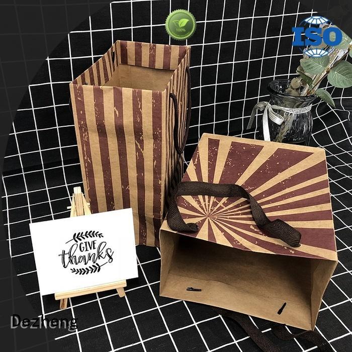 Dezheng gift custom printed kraft paper bags factory for friendship