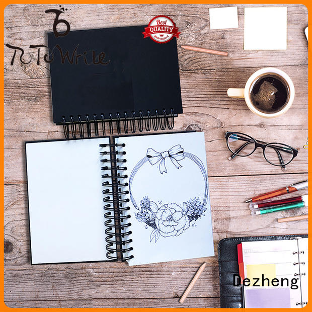 Dezheng Customized hardback sketchbook for business For notebooks logo design