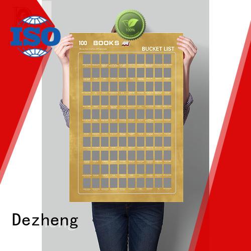 Dezheng bucket bucket list poster manufacturers For